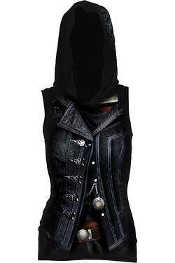 Syndicate Evie Allover Licensed Sleeveless Gothic Hood