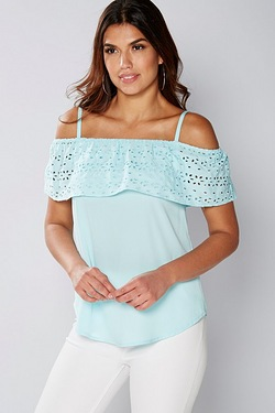 Be You Frill Broderie Top