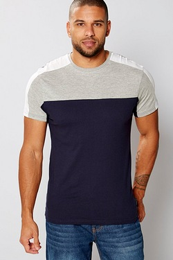 Twisted Gorilla Short Sleeve Panelled T-Shirt