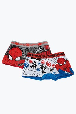Boys Pack Of 2 Spider-Man Trunks
