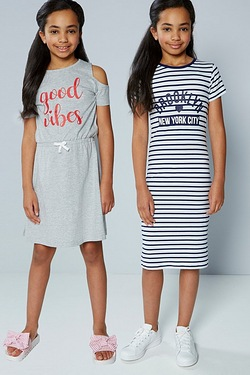 Older Girls Pack Of 2 Dresses