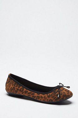Be You Ballerina Flat Shoe - Leopard