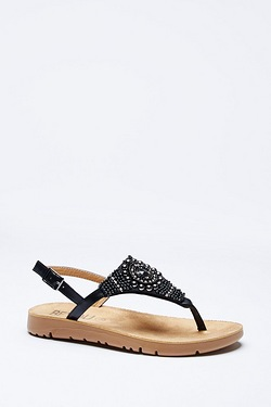 Be You Flex Comfort Beaded Toe Post Sandal
