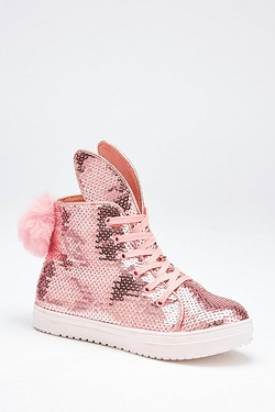 Glitter Bunny High Top