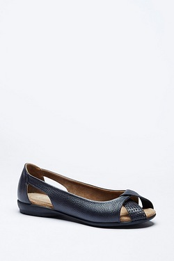 Be You Comfort Leather Open Toe Ballet