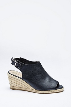 Be You Open Toe Espadrille Wedge Shoe Boot