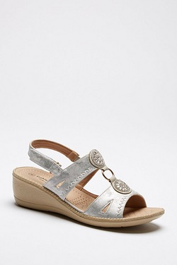 Cushion Walk Sparkle Sandal Wedge