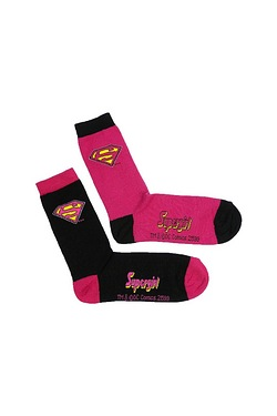 Ladies Supergirl Badge Socks - 2 Pack