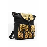 Lili B Leopard Print Black Canvas B...