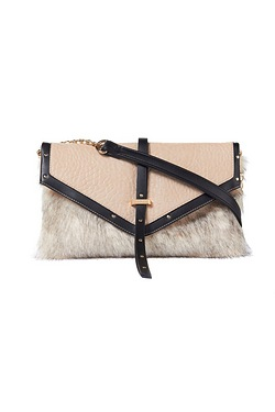 Lipsy Faux Fur Shoulder Bag