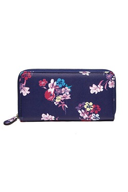 Floral Zip Around Purse