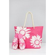Floral Beach Bag With Matching Flip...