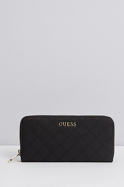 Guess Embossed Logo Zip Around Purse