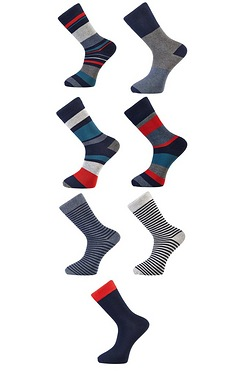 Twisted Gorilla Pack Of 7 Stripe Socks