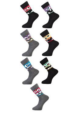 Twisted Gorilla Pack Of 7 Faces Socks