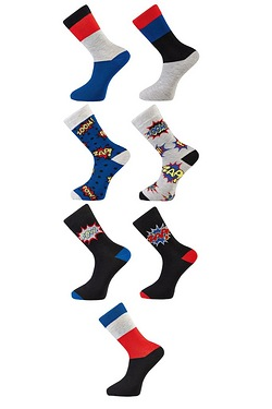 TG Pack Of 7 Zoom/Zap/Pow Socks