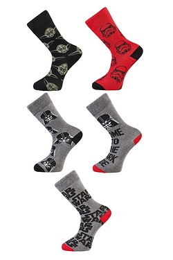 Star Wars Character Pack Of 5 Socks