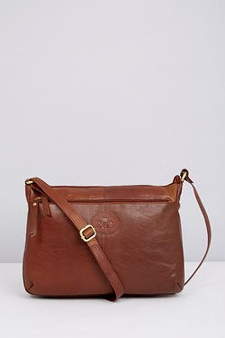 East West Zip Top Crossbody Bag