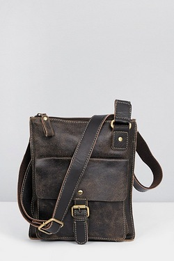 Buffed Leather Casual Cross Body