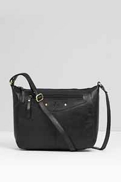 Zip Front Zip Top Cross Body Bag