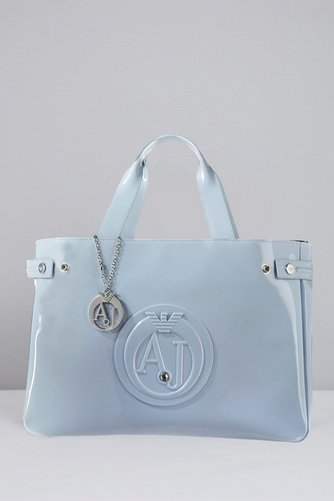 Image for Armani Jeans Patent Logo Shopper Tote from ace