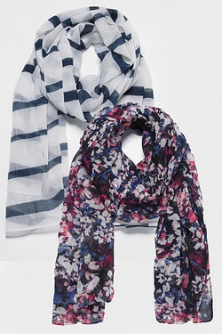 Pack of 2 Woven Scarves
