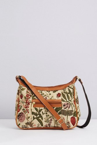 Image for Tapestry & Leather Shoulder Bag from ace