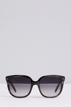 Chloe Oversized Round Trim Sunglasses