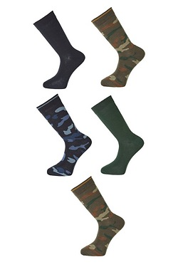Twisted Gorilla Pack Of 5 Camo Socks