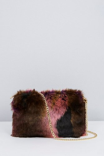 Image for Faux Fur Cross Body Bag - Wine from ace