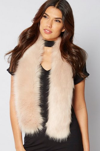 Image for Faux Fur Scarf - Pink from ace
