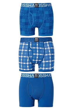 Crosshatch Pack of 3 Check Boxers