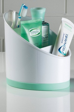 Bathroom Tidy With Aqua Base