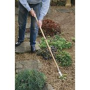 Long handled garden weeder