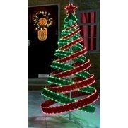 Red and Green LED Spiral Christmas ...