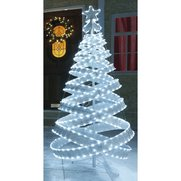 180cm White And Silver LED Spiral Tree