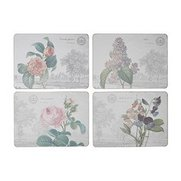 Set Of 4 Floral Placemats