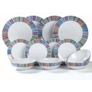 12-Piece Striped Dinner Set