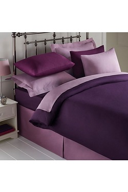 Percale Plain Dyed Pair Of Housewif...