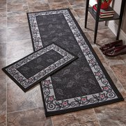 Leaf Swirl Runner With FREE Doormat