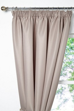 Waffle Lined Pencil Pleat Curtains