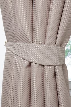 Waffle Lined Curtains - Tie Backs