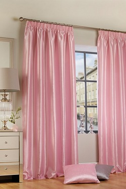 Faux Silk Tape Top Lined Curtains