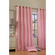 Faux Silk Ring Top Lined Curtains