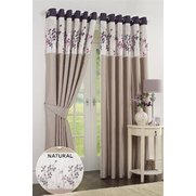 Berry Faux Silk Curtains