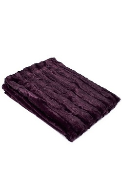 Studio Home Stripe Faux Fur Throw