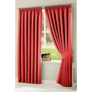 Polka Dot Tape Top Curtains