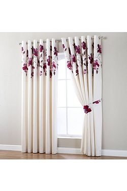 Evette Top Border Ring Top Curtains...
