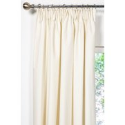Unlined Plain Canvas Tape Top Curtains