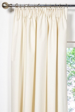 Unlined Plain Canvas Pencil Pleat C...